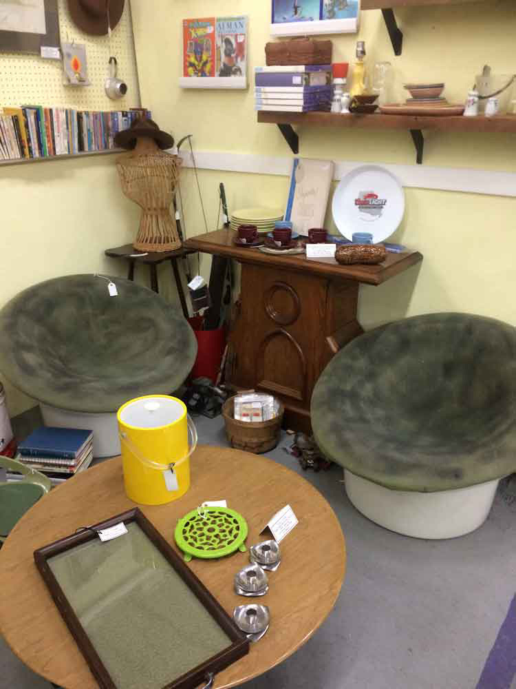 Mid Century Modern Mushroom Chairs Pair Suburban Antiquarian
